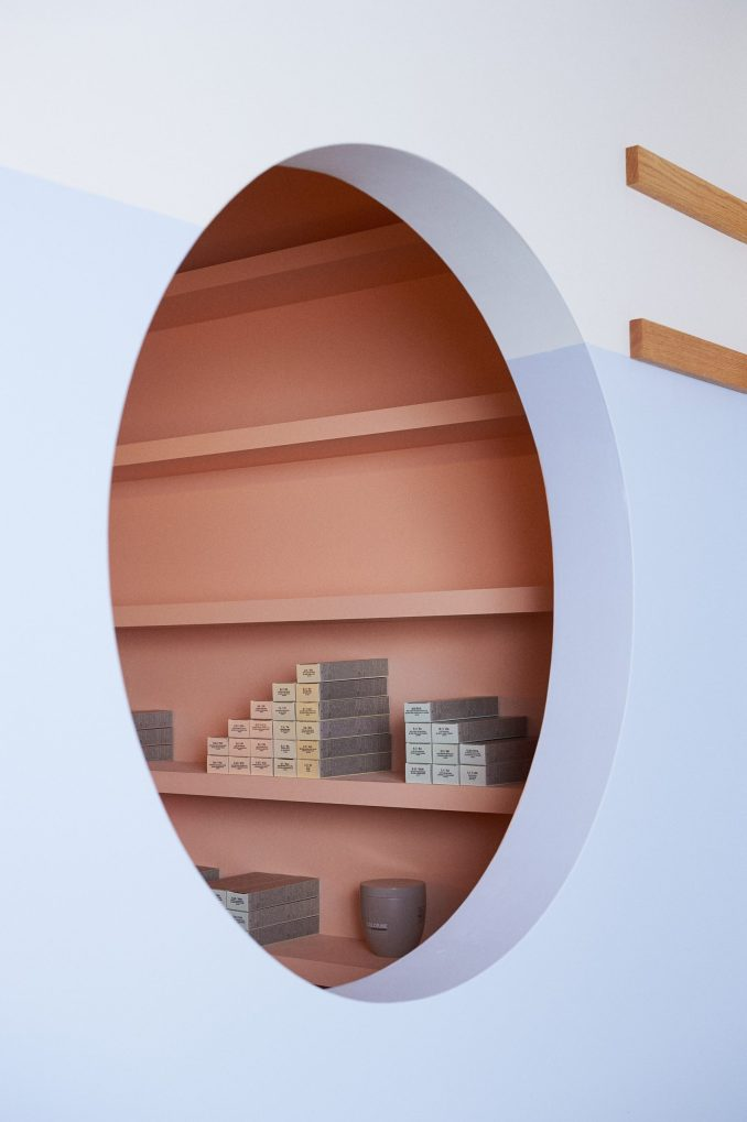 The colour room is behind a perforated hole in the wall