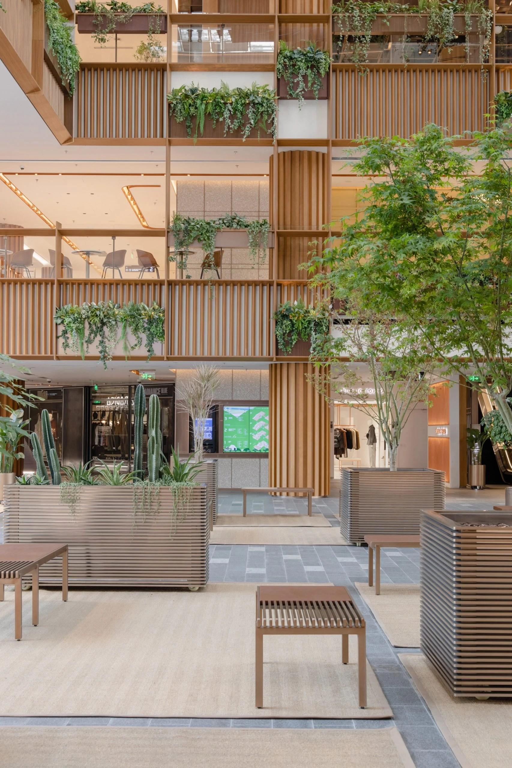 Plants in Xintiandi atrium by AIM Architecture