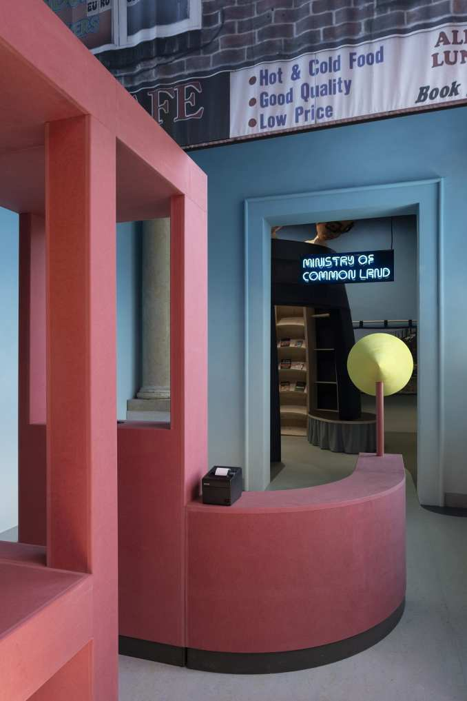 A installation inside the British Pavilion at Venice Architecture Biennale