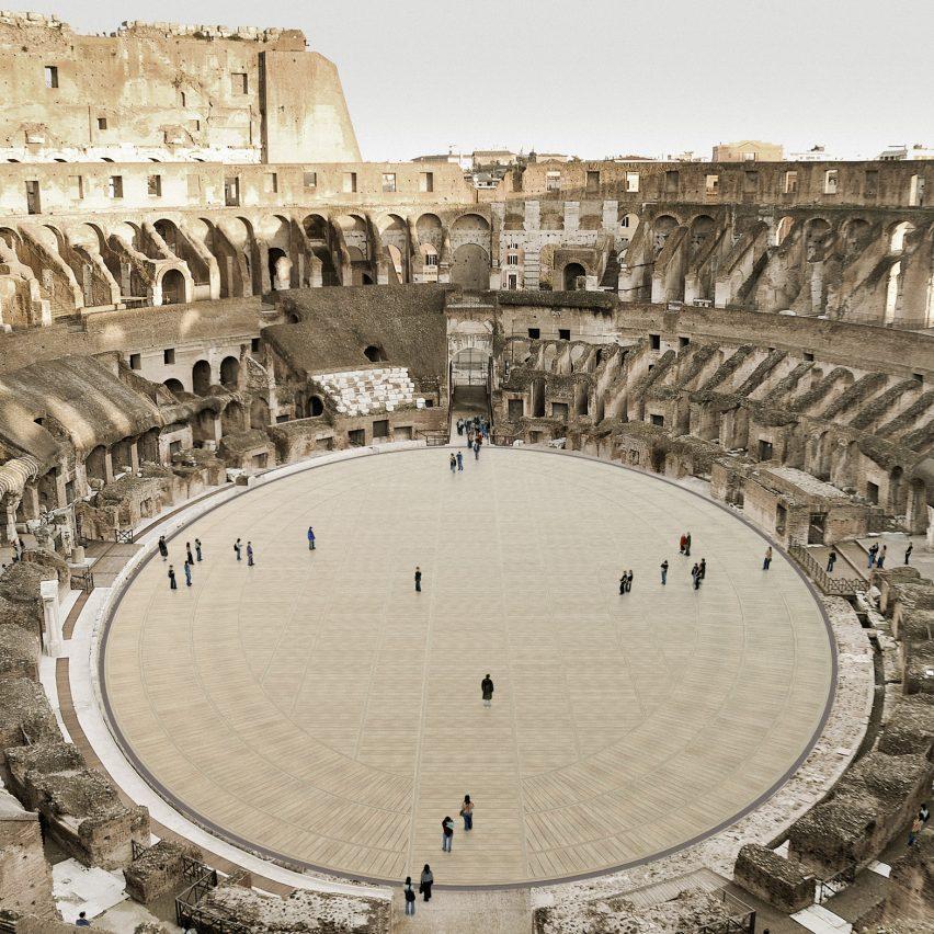 Colosseum's retractable floor by Milan Ingegneria