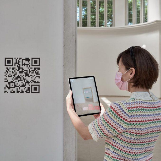 German pavilion with QR codes