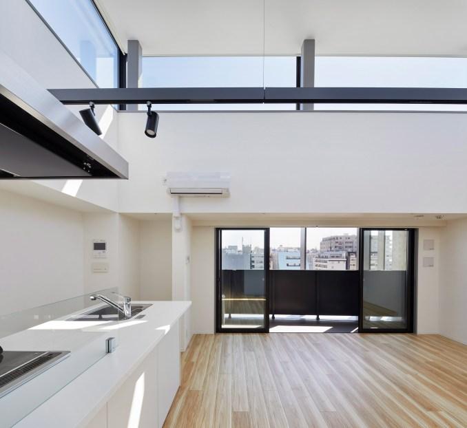 The apartments at Kannai Blade Residence have wood floors