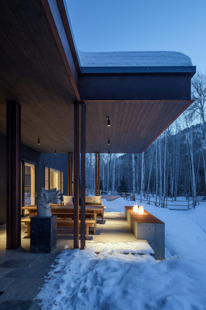 Mark de Reus designed black facades for his home