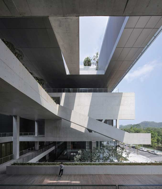 Terrrace of Pingshan Art Museum by Vector Architects