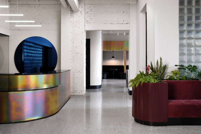 Local firm Ivy Studio added dashes of colour to the space