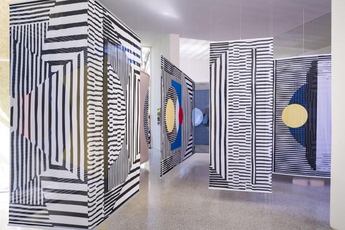 Screens in Dutch Pavilion exhibition design