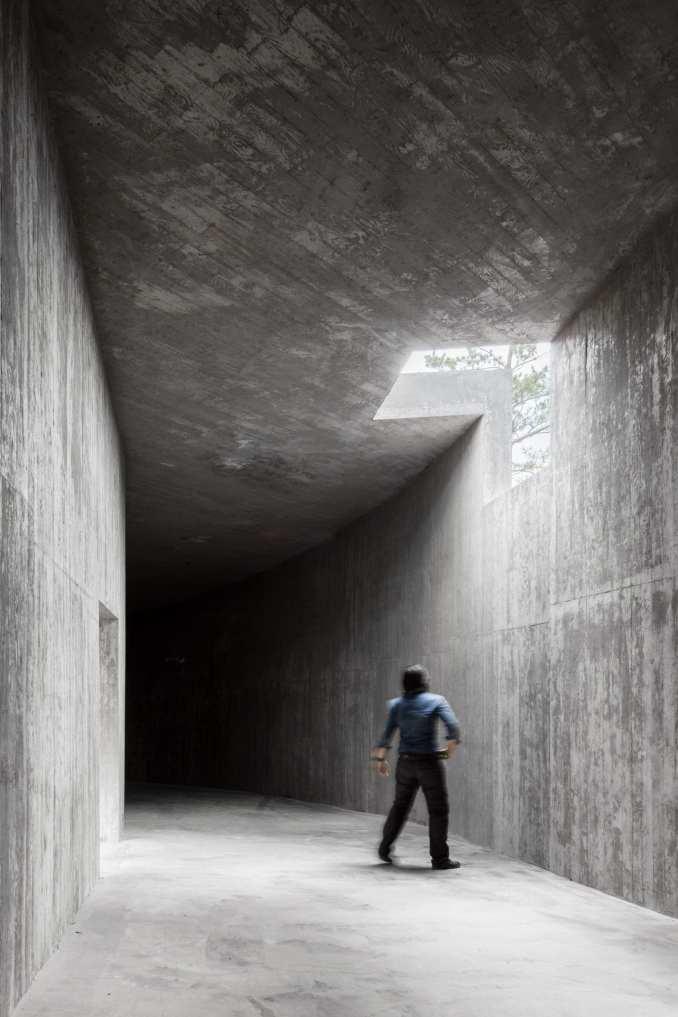 A skylight punctuates the building at Saya Park Art Pavilion