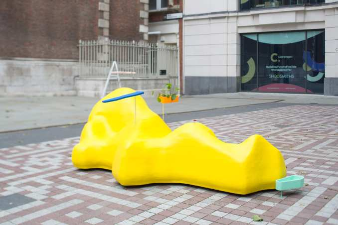 The Friendly Blob bench in London