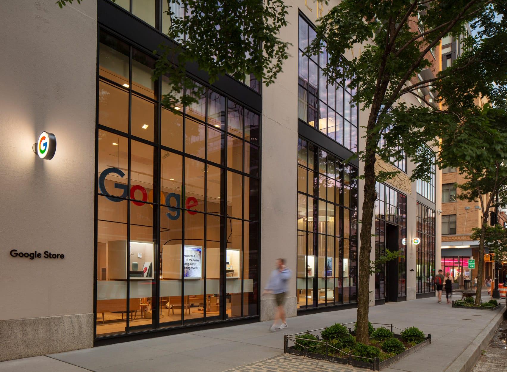 Google Store windows