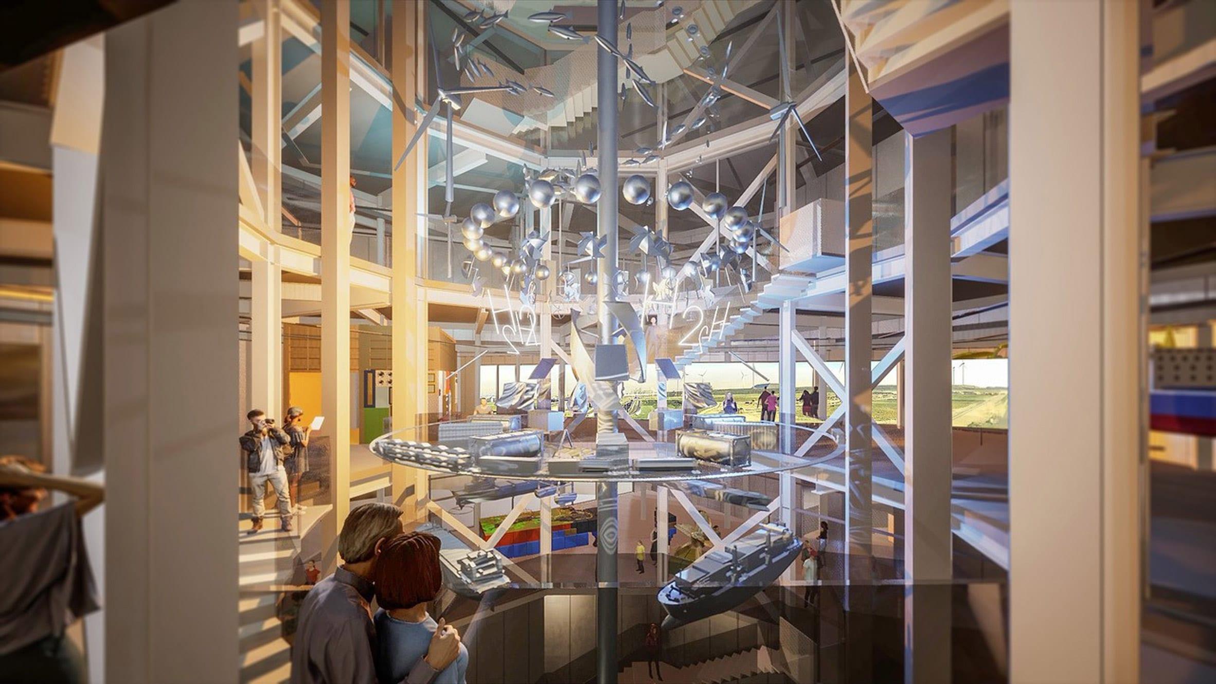 A visual of an atrium inside a exhibition centre by MVRDV