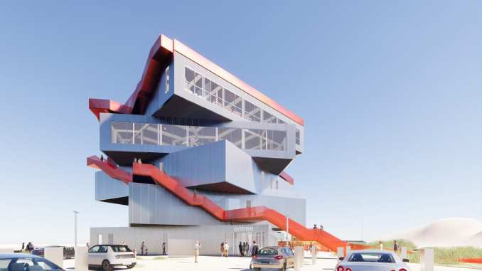 An exhibition centre proposal in Rotterdam by MVRDV