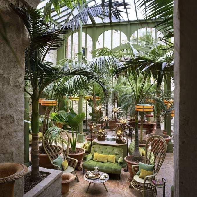Palm Court at Hotel Castello di Reschio