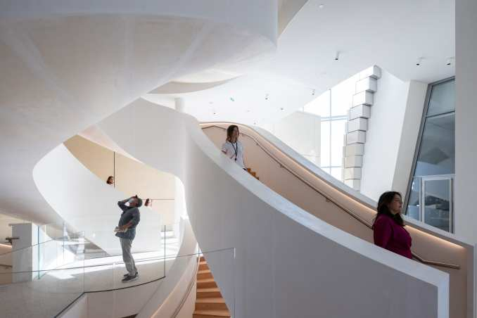 Interior of The Tower by Frank Gehry