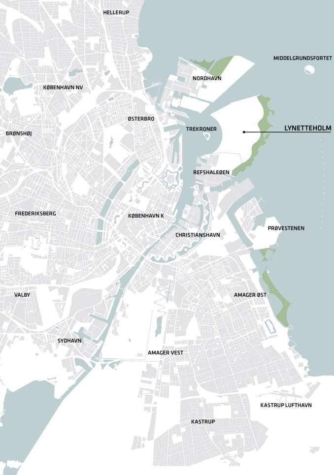 Map of Copenhagen harbour