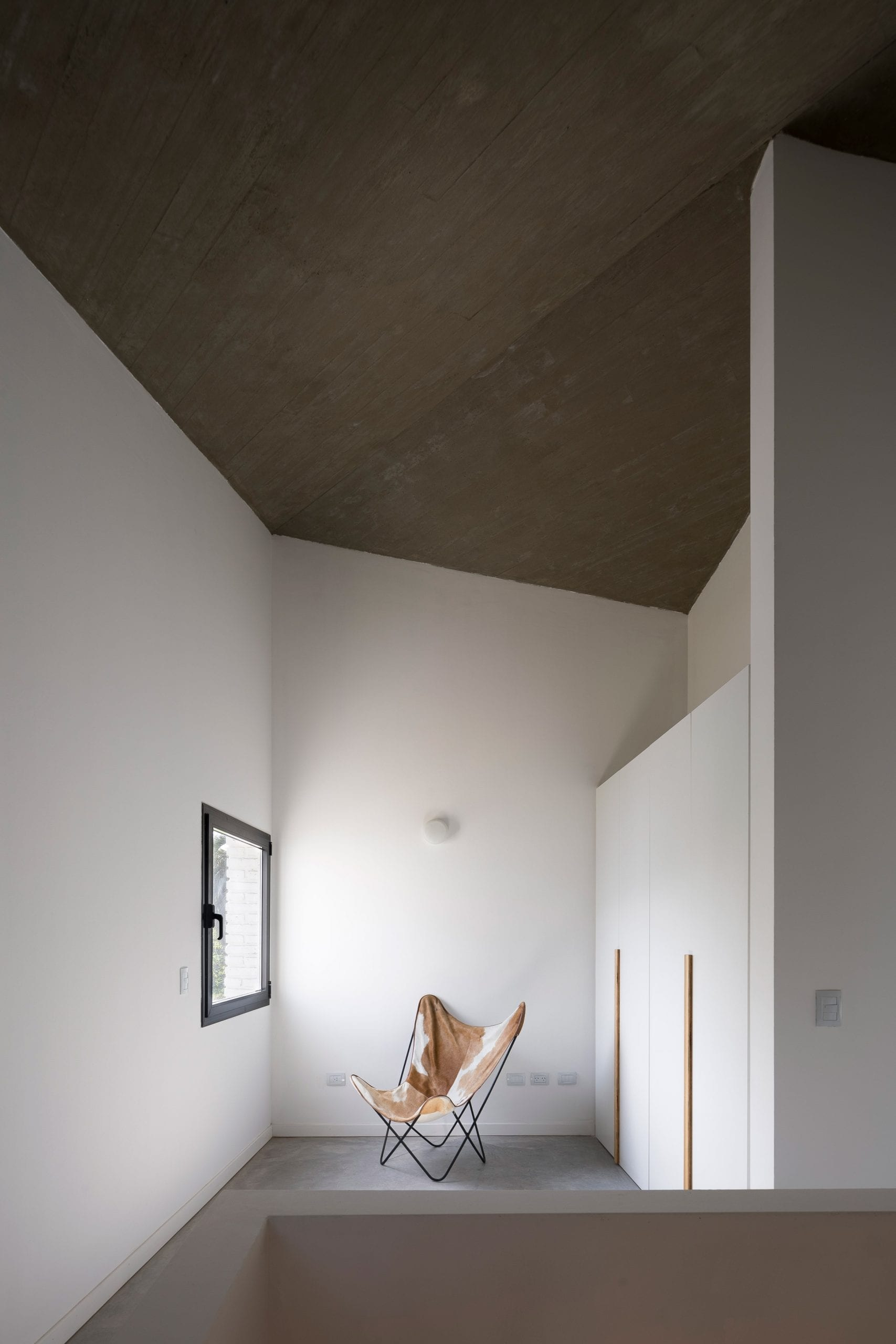 White walls with small window