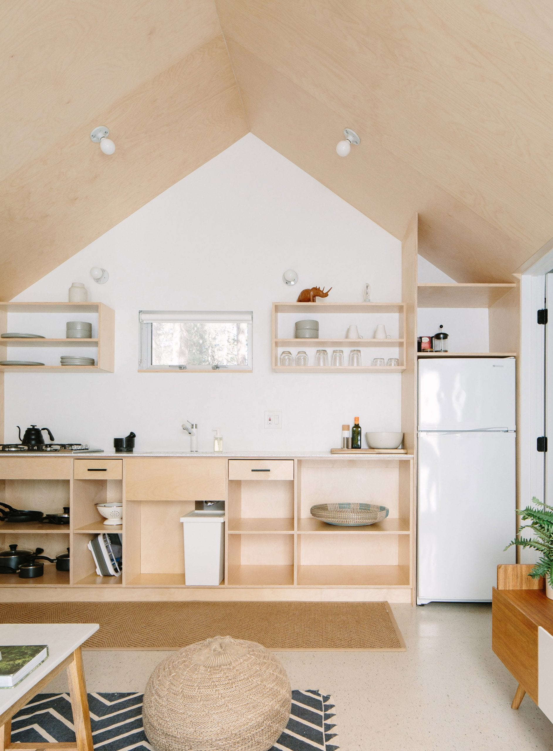 Plywood one-wall kitchen by Sheet/RockLA