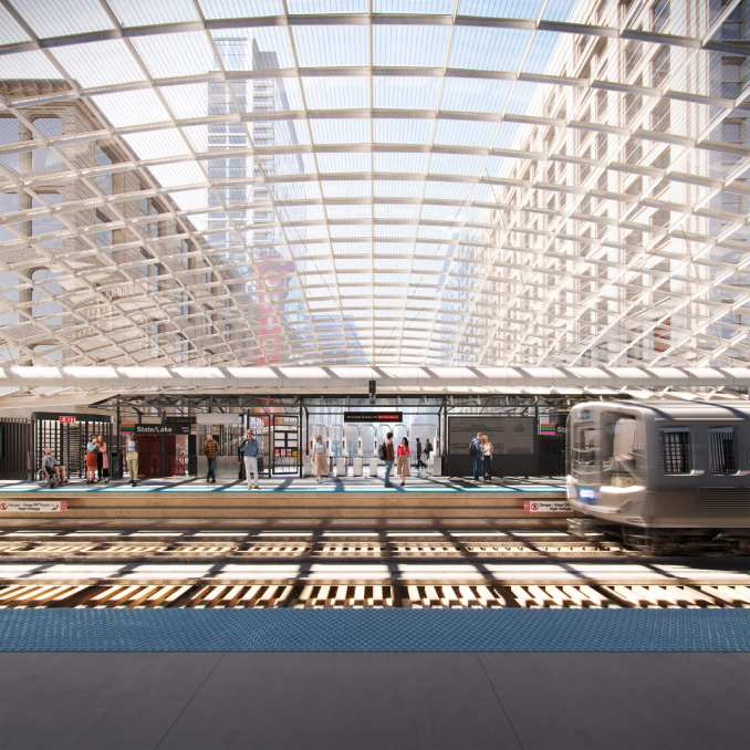 State/Lake Station redesign plans for Chicago's metro system