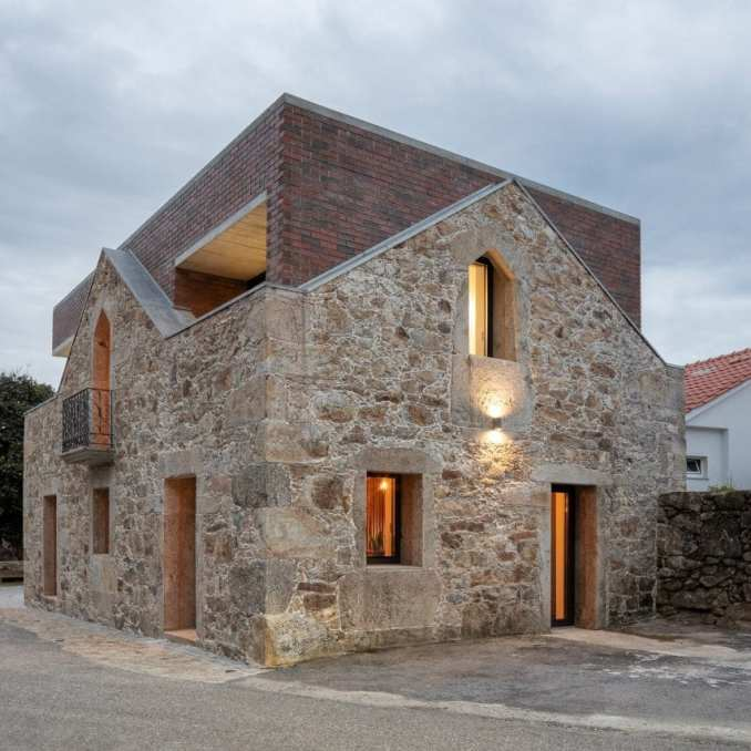 The studio added a brick extension
