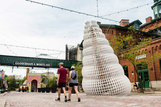 Temporary pavilions put up in Toronto, Canada