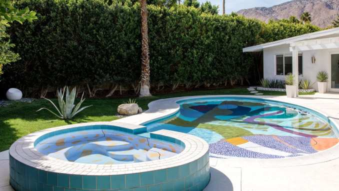 Hill House Pool in Palm Springs, California, by Alex Proba