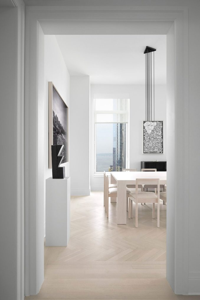 Home with white interiors