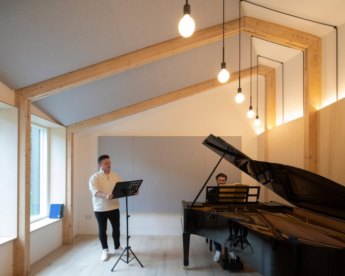 Interior of rehearsal room at Bravura House by Selencky Parsons