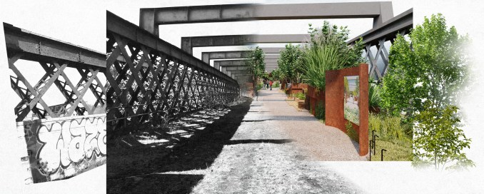 The castlefield viaduct will be turned into a park
