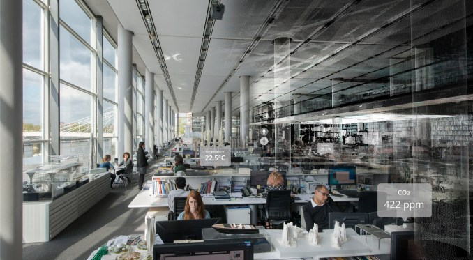 Digital twin of the Foster + Partners office