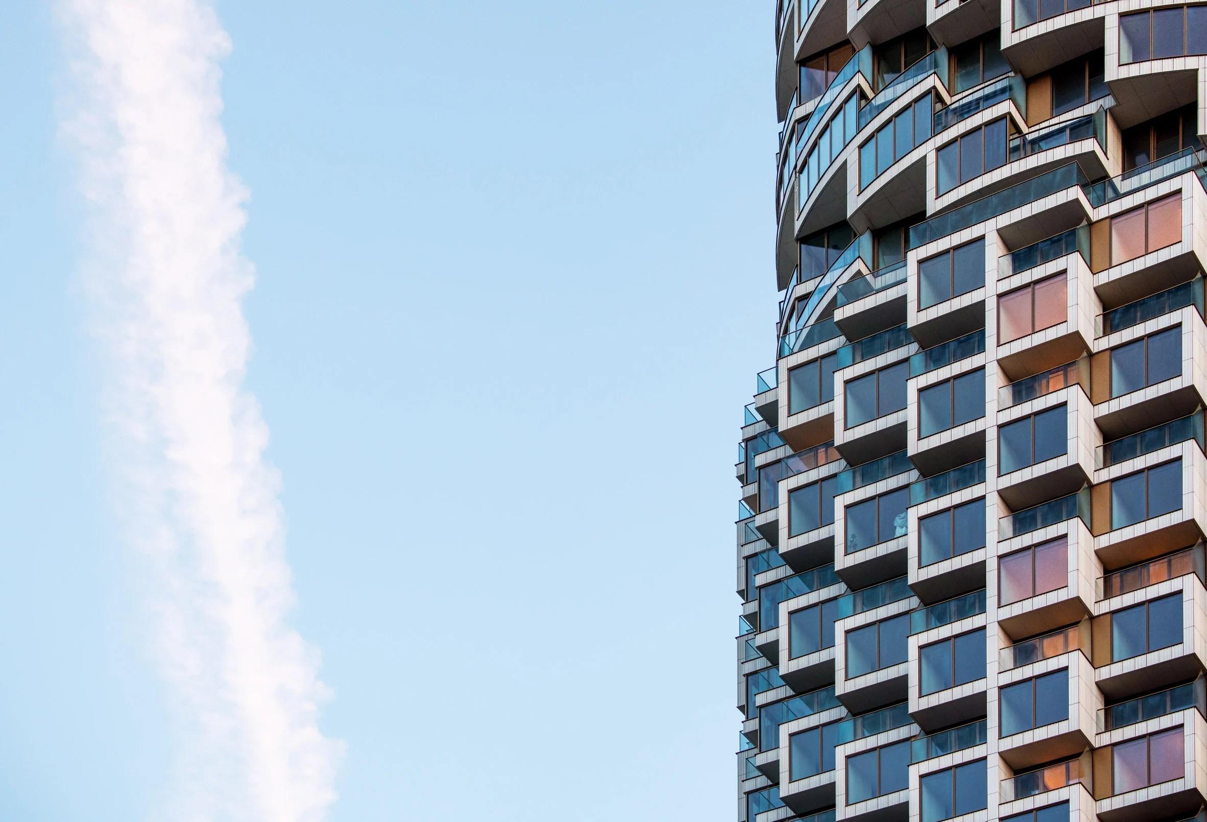 Blocky skyscraper