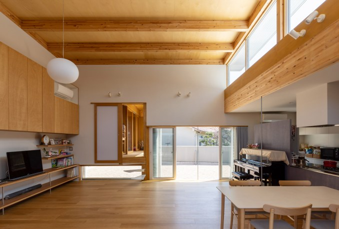 A open-plan living room and kitchen