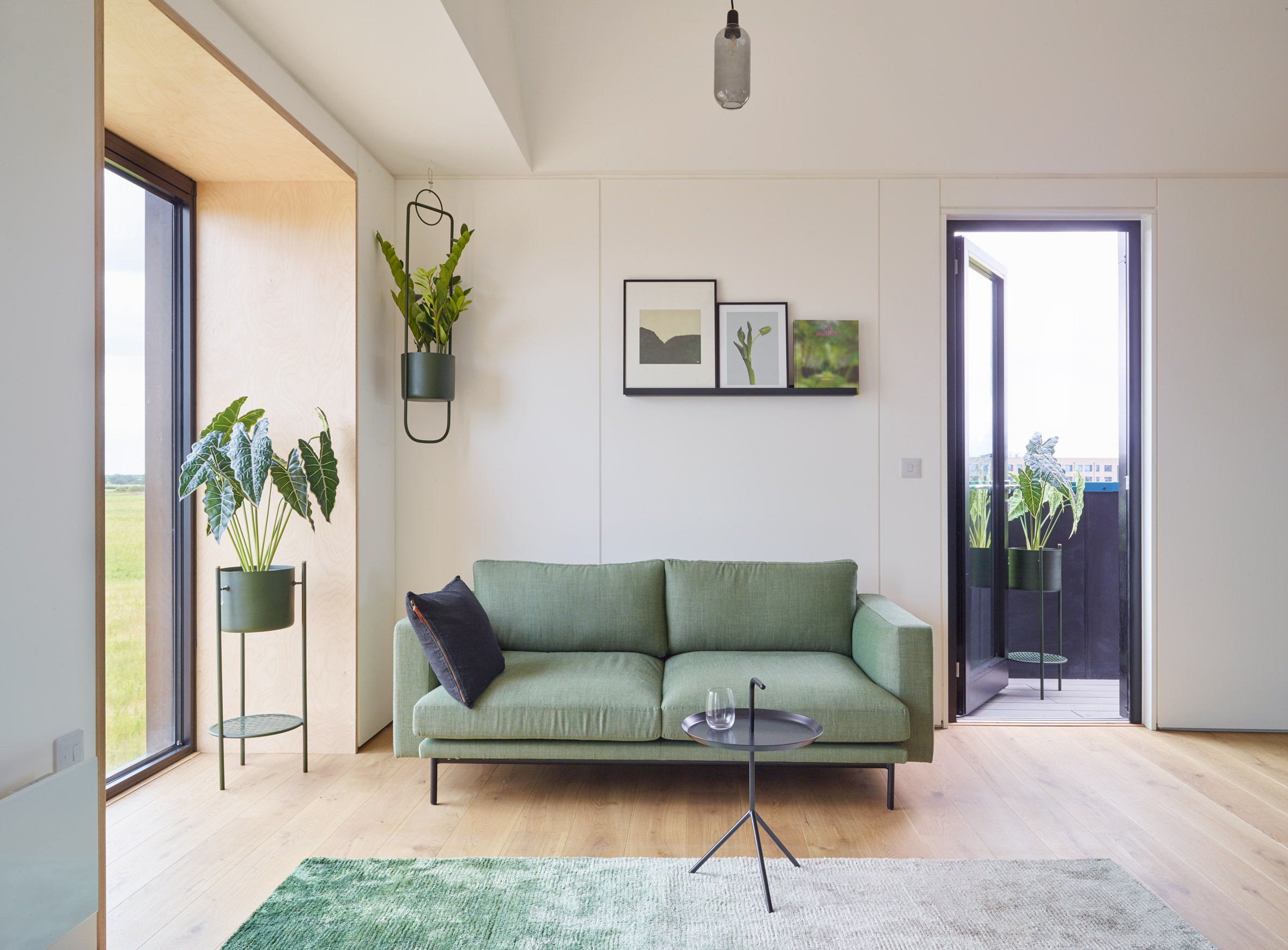 Town House show home living room at Inholm by House by Urban Splash