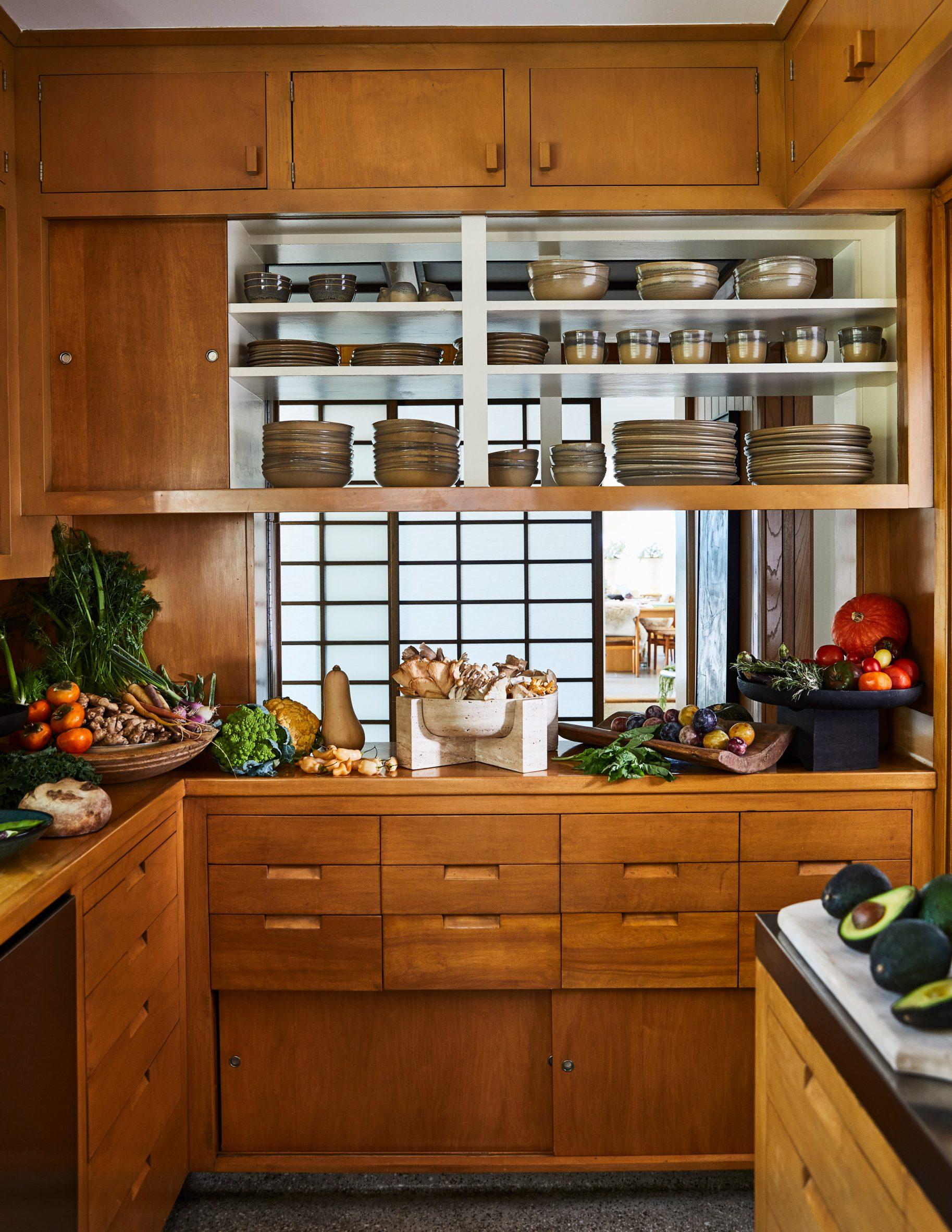 The kitchen of Malibu Surf Shack by Kelly Wearstler