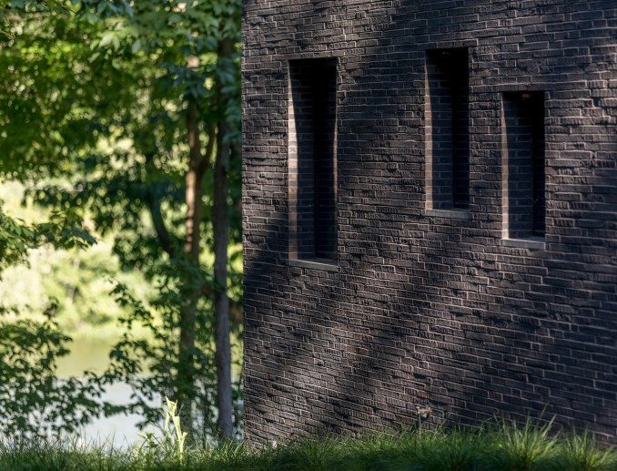 Black brick exterior residential design Princeton NJ