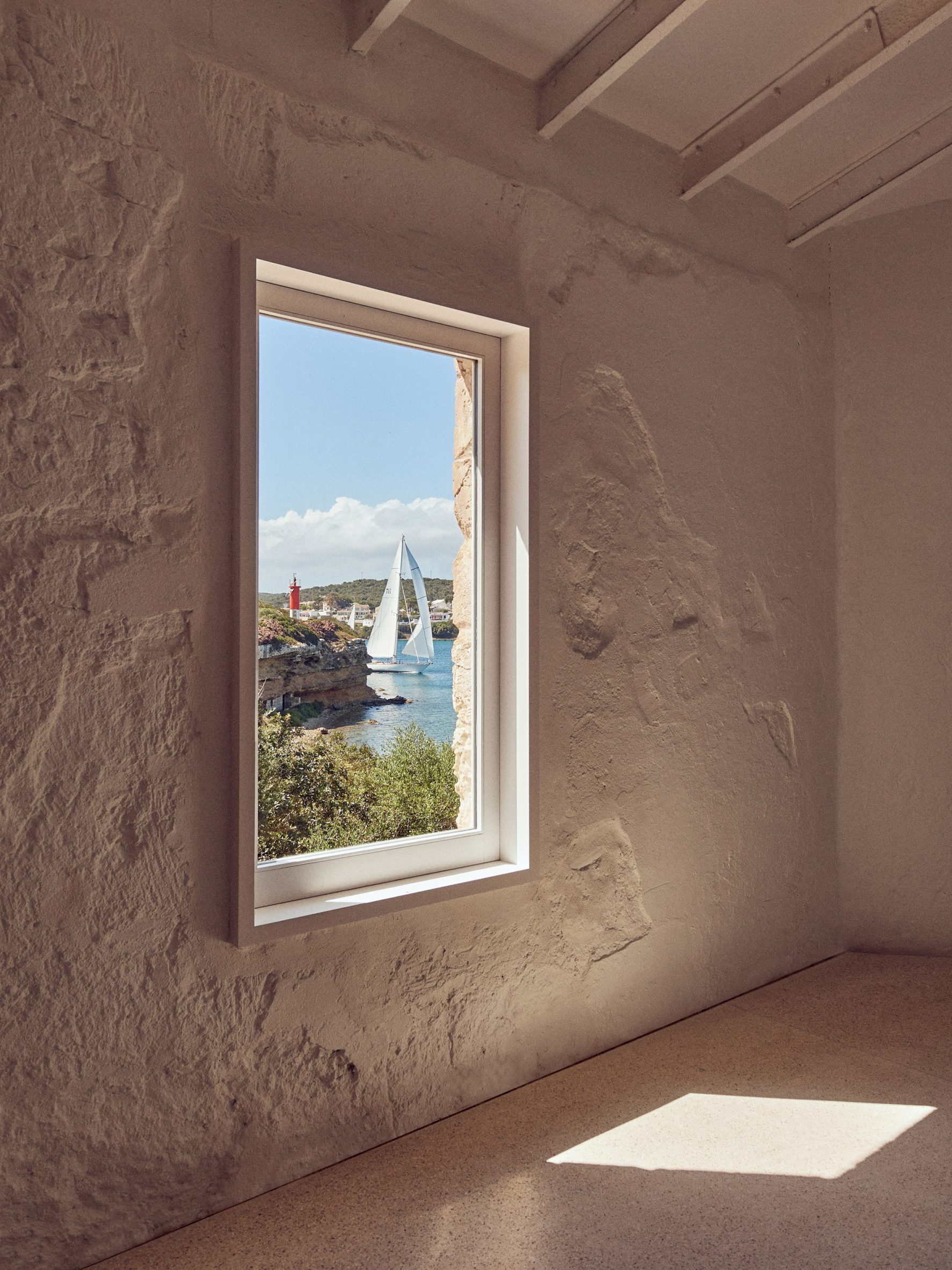 Laplace left walls unrendered at Hauser & Wirth Menorca