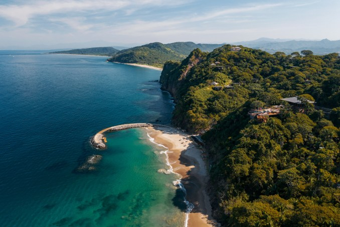 Aerial view of One&Only Mandarina Hotel