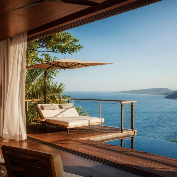 Ocean view from villa at One&Only Mandarina hotel