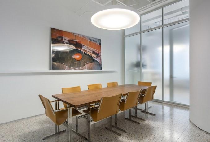 Meeting room inside the John Hancock Center