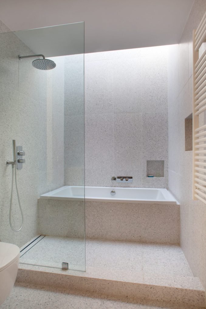 Terrazzo tiles the main bathroom