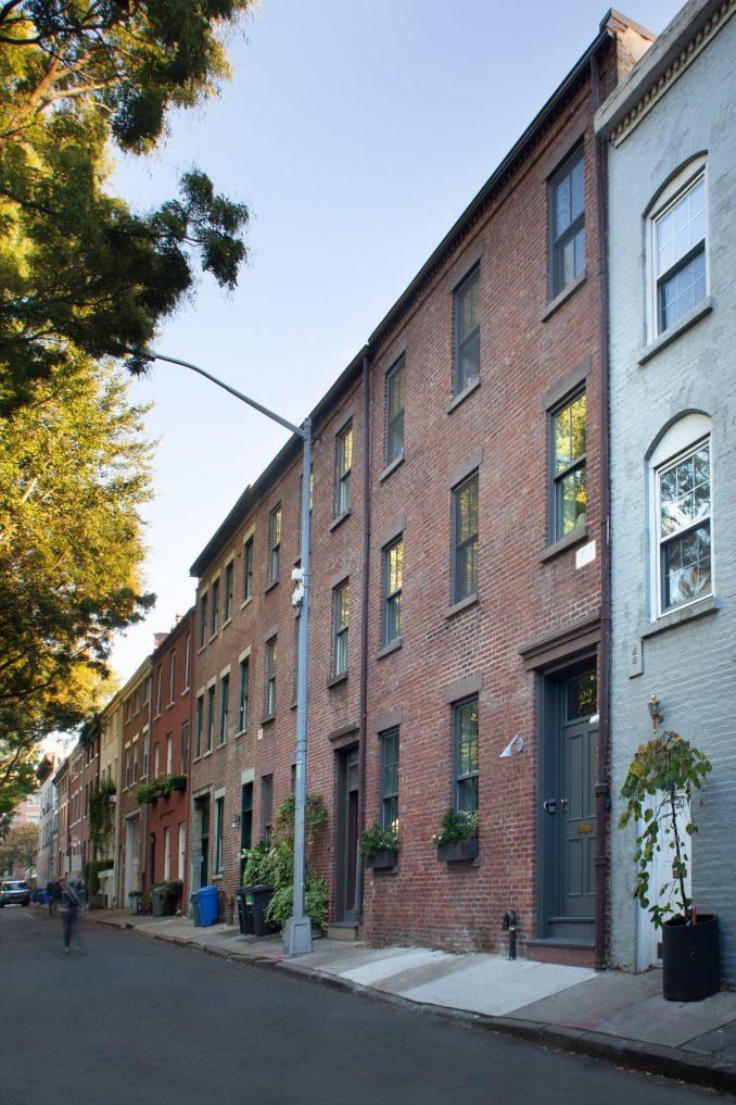 The townhouse is in Brooklyn's Carroll Gardens neighbourhood