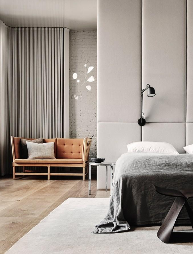 Bedroom with Hardwick White walls