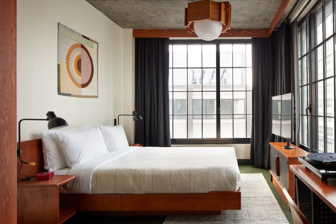 Guest room in Brooklyn hotel