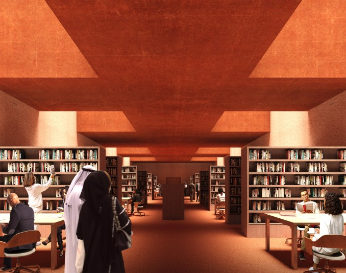 A visual of a library