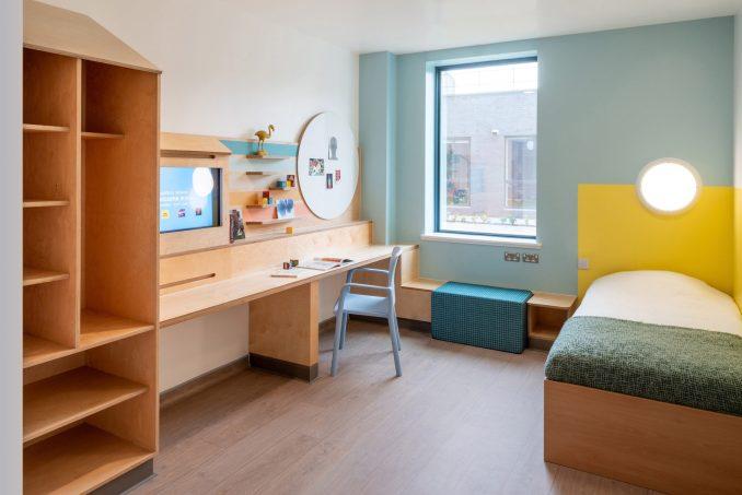 Bedroom at CAMHS Edinburgh