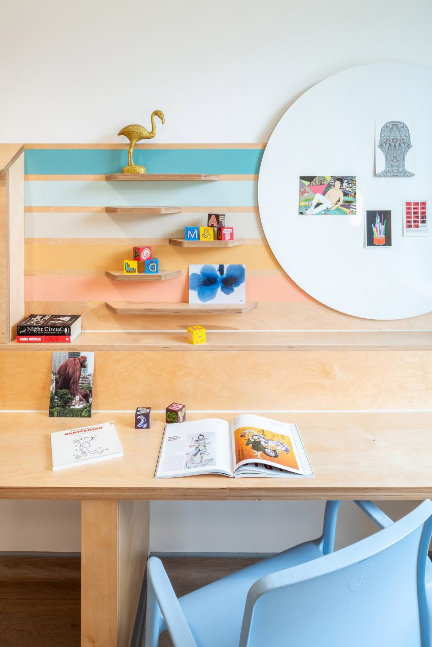 Bedroom desk and shelving at CAMHS Edinburgh
