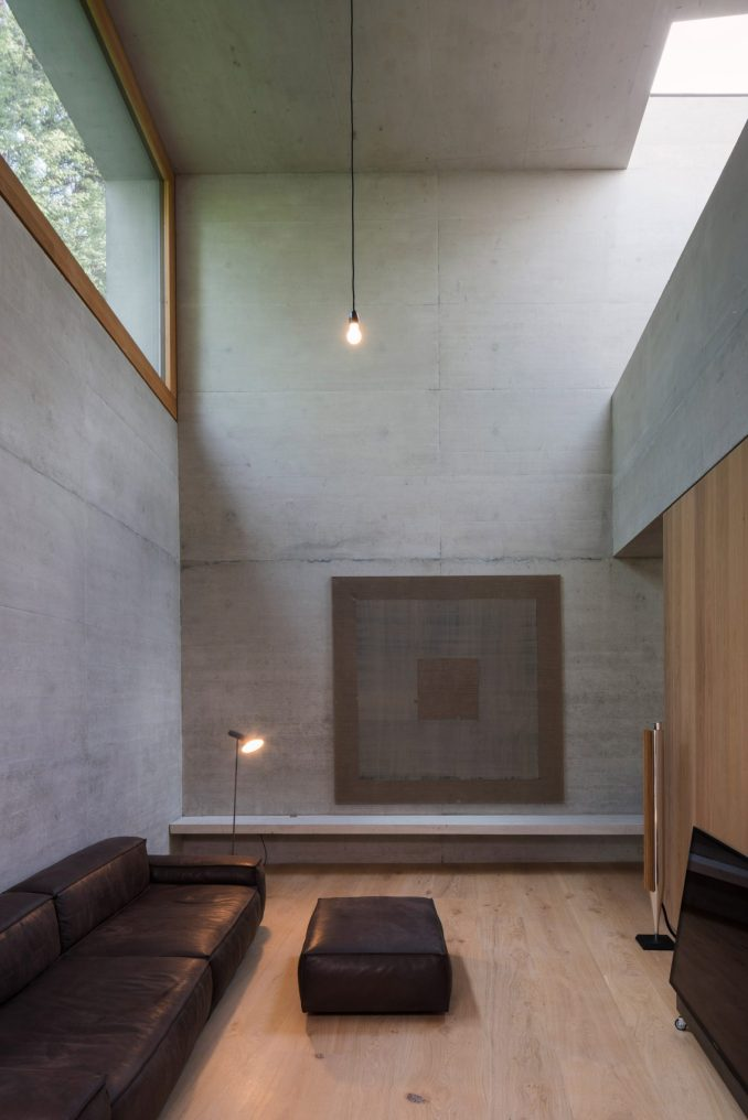 concrete living room in germany by SoHo Architektur