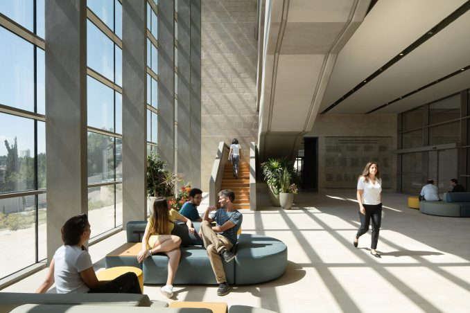 A social space inside Edmond and Lily Safra Center for Brain Sciences
