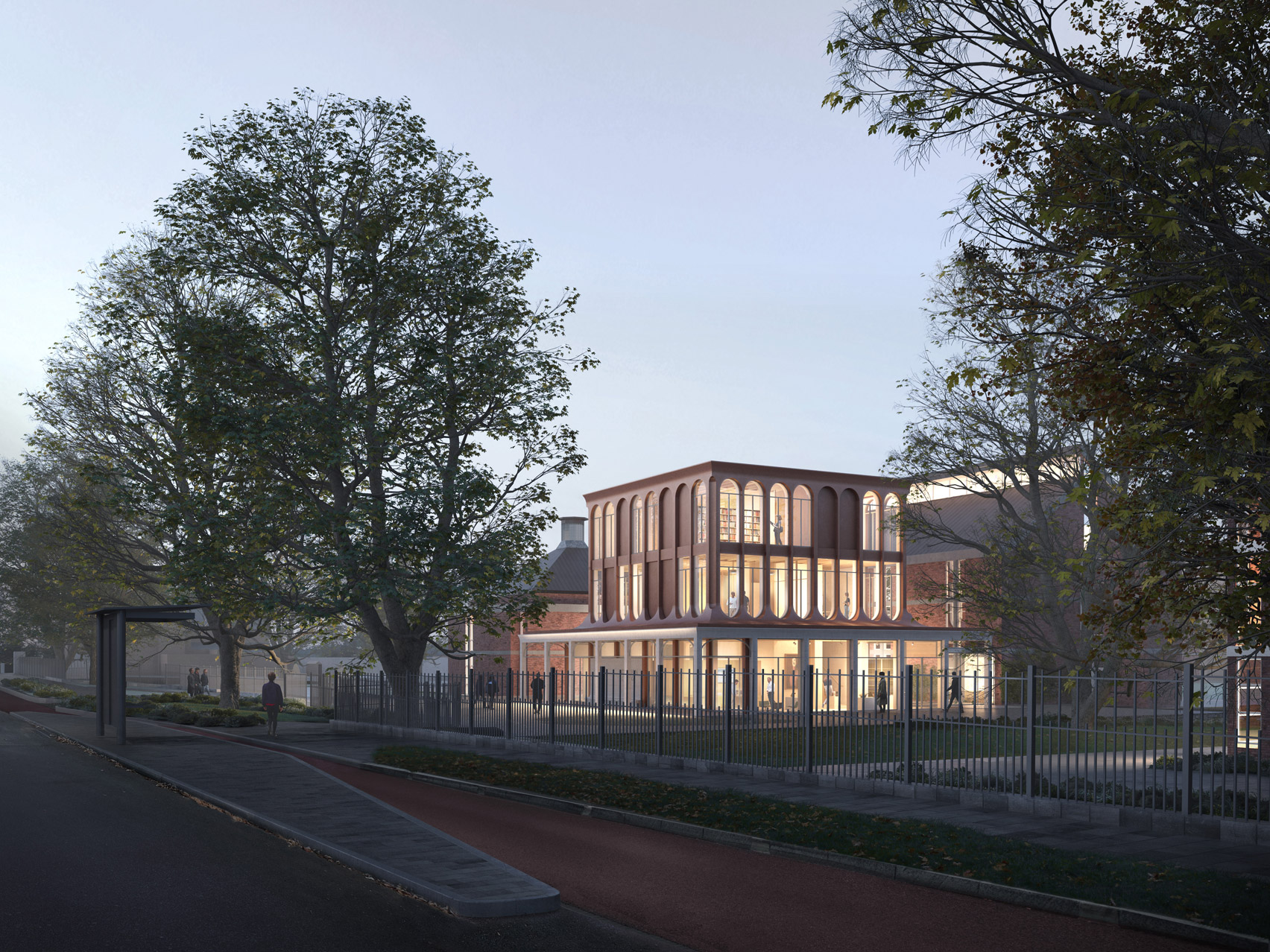 A visual of Homerton College's new entrance