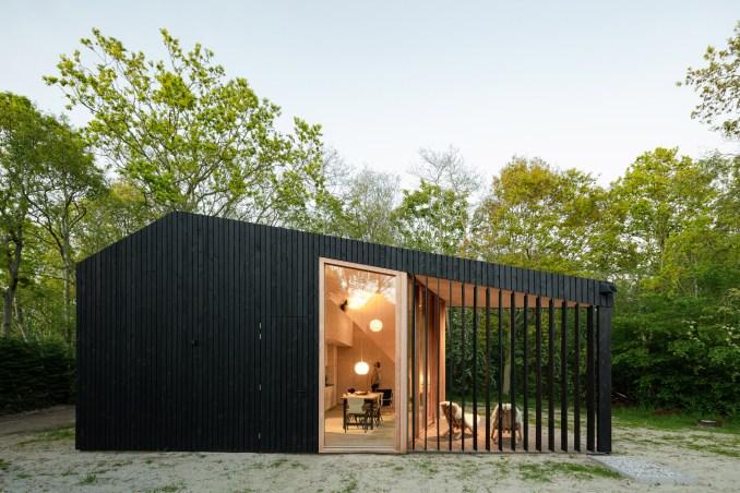 Black-timber cabin