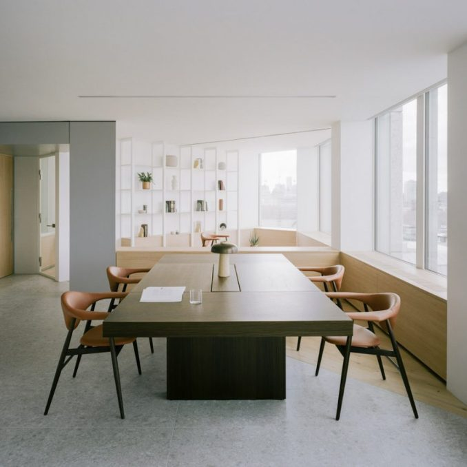 An office table in Smithson Tower