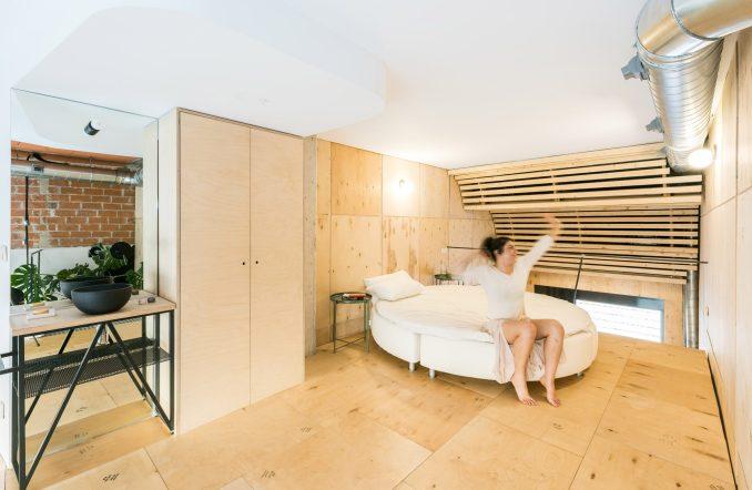 Bed in Madrid loft